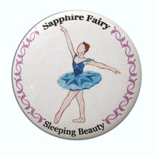 Load image into Gallery viewer, Sapphire Fairy Button/Magnet/Mirror - Ballet Gift Shop