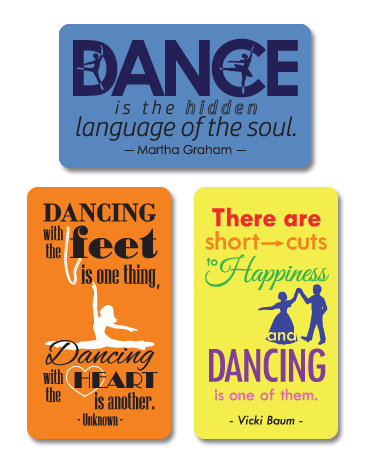 "Dance Quotes 2""x3-1/2"" Full-Color Magnets - Ballet Gift Shop"
