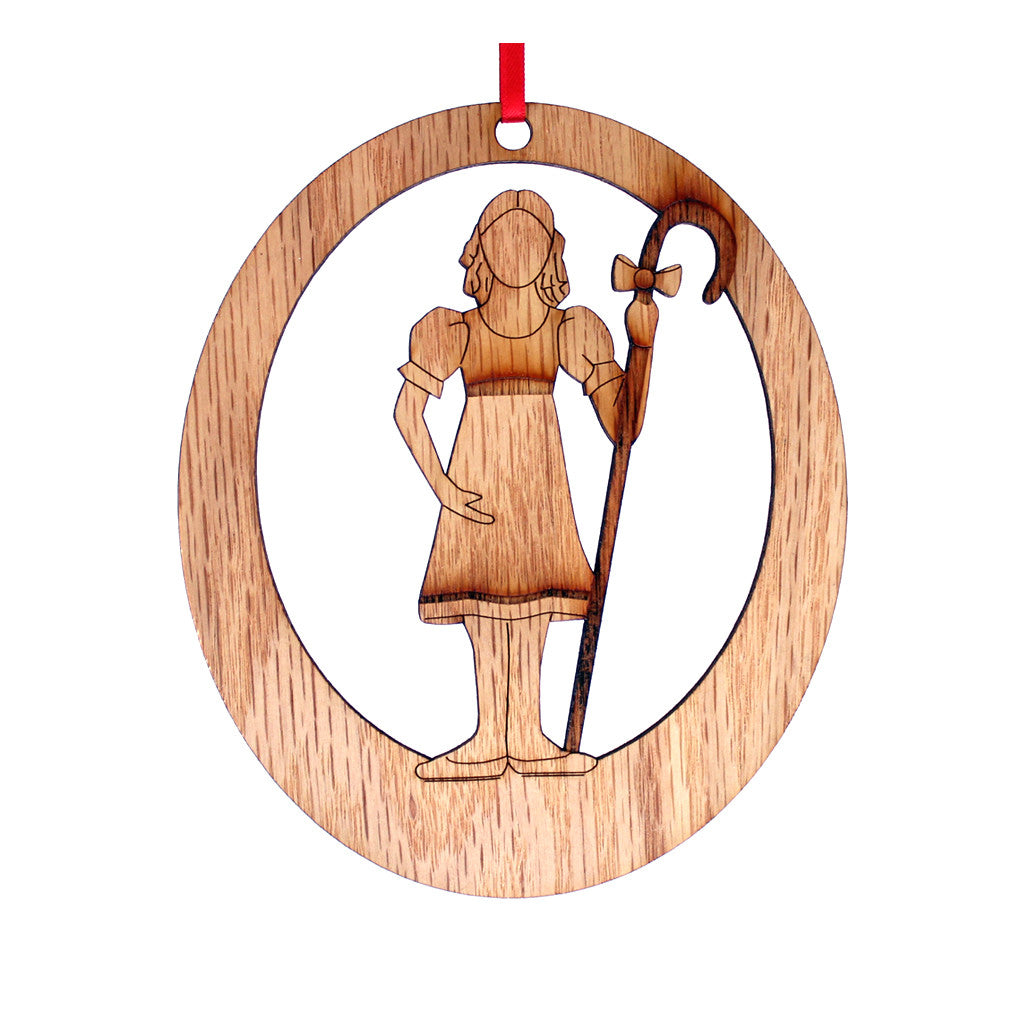 Young Shepherdess Laser-Etched Ornament