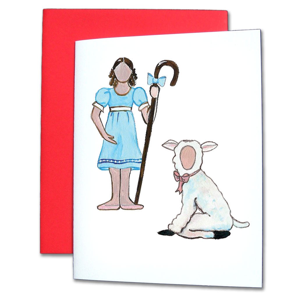 Young Shepherdess & Lamb Note Cards
