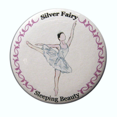Silver Fairy Button / Magnet