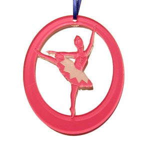 Silver Fairy Laser-Etched Ornament - Ballet Gift Shop