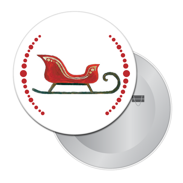 Christmas Sleigh Button / Magnet