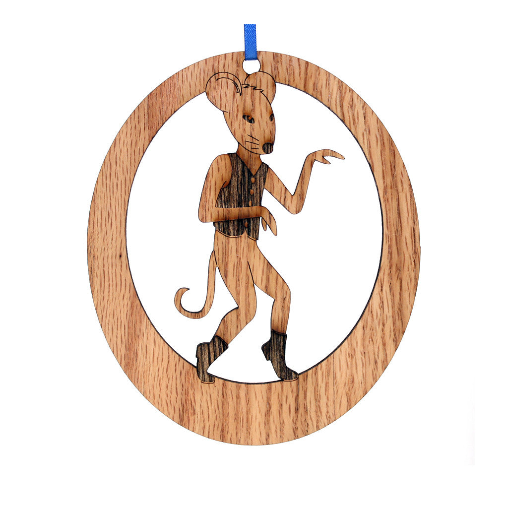 Small Mouse Laser-Etched Ornament - Ballet Gift Shop