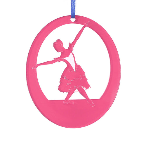 Snow Crystal/Winter Fairy Laser-Etched Ornament - Ballet Gift Shop
