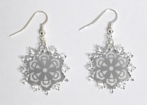 Mirrored Snowflake Earrings - Ballet Gift Shop