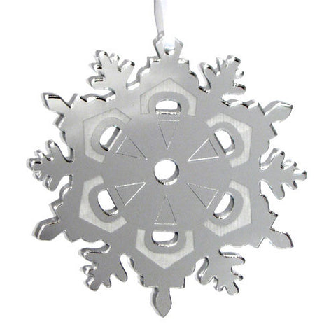 Snowflake Mirrored Ornament - Ballet Gift Shop