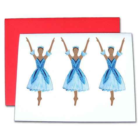 Snowflakes (African-American) Note Cards - Ballet Gift Shop