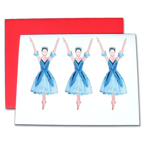 Snowflakes Note Cards - Ballet Gift Shop