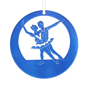 Snow Pas de Deux Laser-Etched Ornament - Ballet Gift Shop