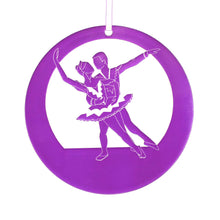Load image into Gallery viewer, Snow Pas de Deux Laser-Etched Ornament - Ballet Gift Shop