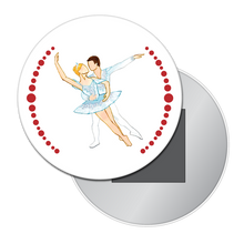 Load image into Gallery viewer, Snow Pas de Deux Button/Magnet/Mirror