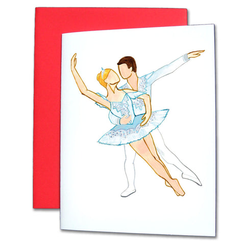 Snow Pas de Deux Note Cards - Ballet Gift Shop