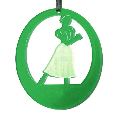Snow White Laser-Etched Ornament
