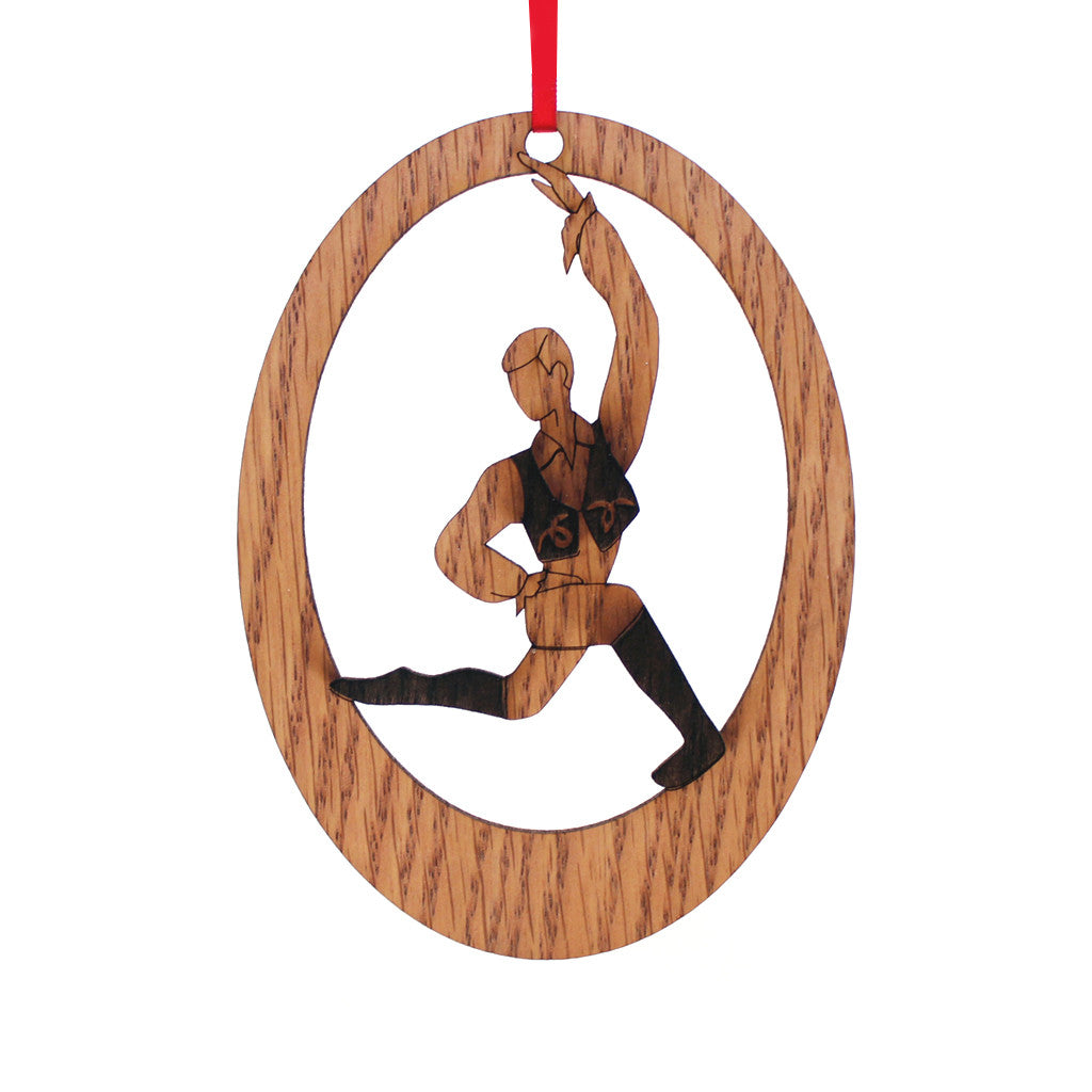 Spanish Chocolate Boy Laser-Etched Ornament - Ballet Gift Shop