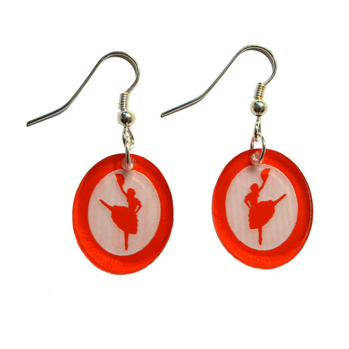 Spanish Chocolate Silhouette Earrings - Ballet Gift Shop