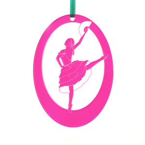 Spanish Chocolate Girl Laser-Etched Ornament - Ballet Gift Shop