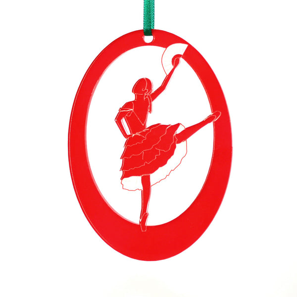 Spanish Chocolate Girl Laser-Etched Ornament