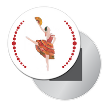 Load image into Gallery viewer, Spanish Chocolate Girl Button/Magnet/Mirror