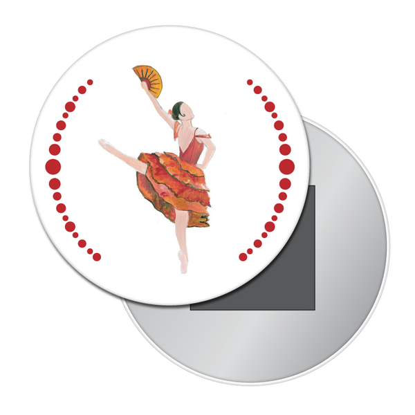 Spanish Chocolate Girl Button / Magnet