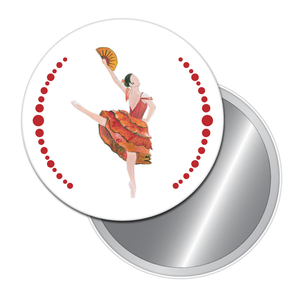 Spanish Chocolate Girl Button/Magnet/Mirror