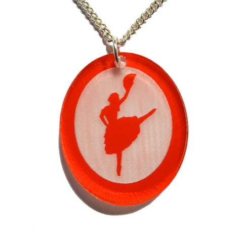 Spanish Chocolate Dancer Silhouette Pendant - Ballet Gift Shop