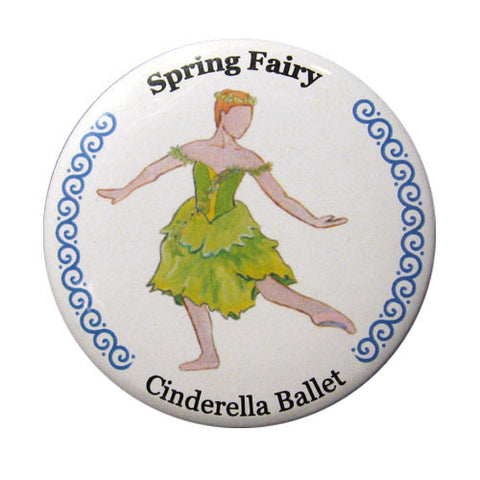 Spring Fairy Button / Magnet - Ballet Gift Shop