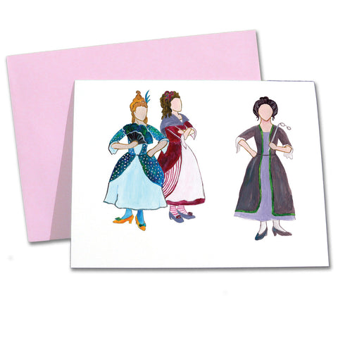 Cinderella's Stepmother & Stepsisters Note Cards - Ballet Gift Shop