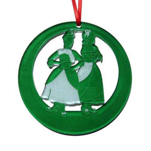 Cinderella's Stepsisters Laser-Etched Ornament
