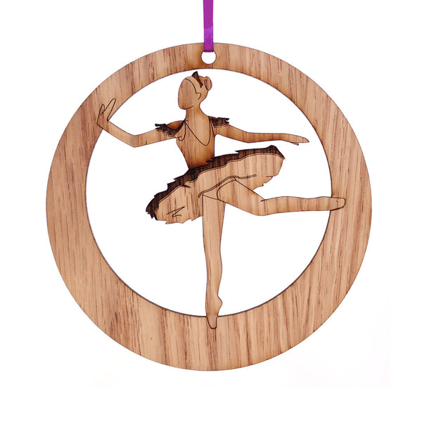 Sugar Plum Fairy Laser-Etched Ornament