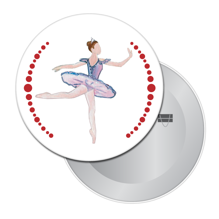 Sugar Plum Fairy Button/Magnet/Mirror
