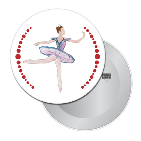 Sugar Plum Fairy Button / Magnet
