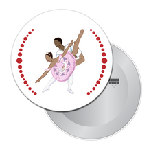 Load image into Gallery viewer, Sugar Plum Pas de Deux (African-American) Button/Magnet/Mirror