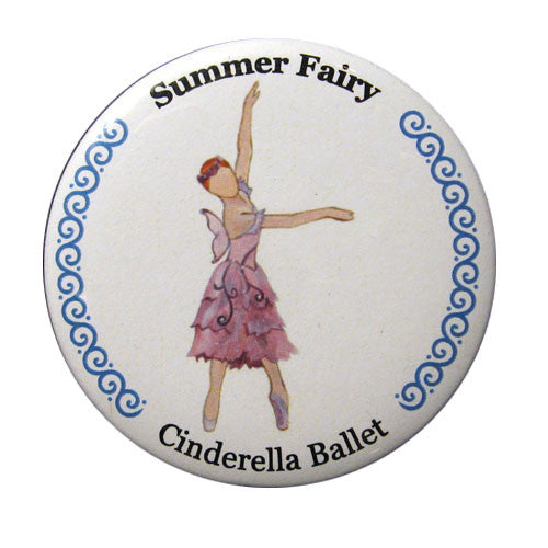 Summer Fairy Button/Magnet/Mirror - Ballet Gift Shop