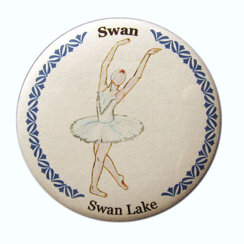 Swan Button / Magnet - Ballet Gift Shop