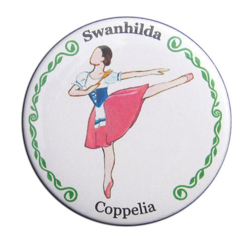 Swanhilda Button/Magnet/Mirror - Ballet Gift Shop