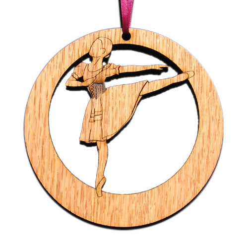 Swanhilda Laser-Etched Ornament - Ballet Gift Shop