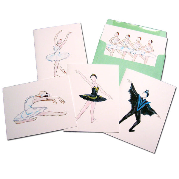 Swan Lake Assorted Note Card Set - Ballet Gift Shop