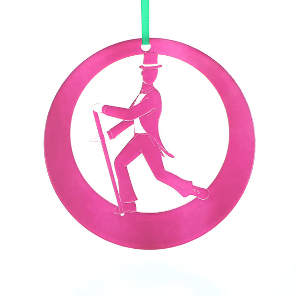 Top Hat & Tails Tap Dancer Laser-Etched Ornament - Ballet Gift Shop
