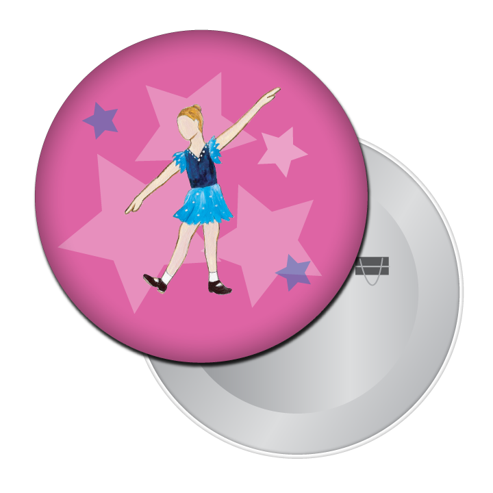 Young Tap Dancer Button/Magnet/Mirror