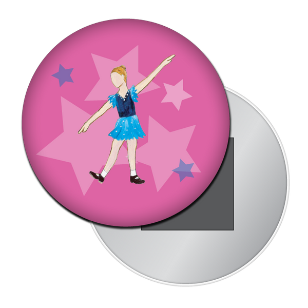 Young Tap Dancer Button / Magnet