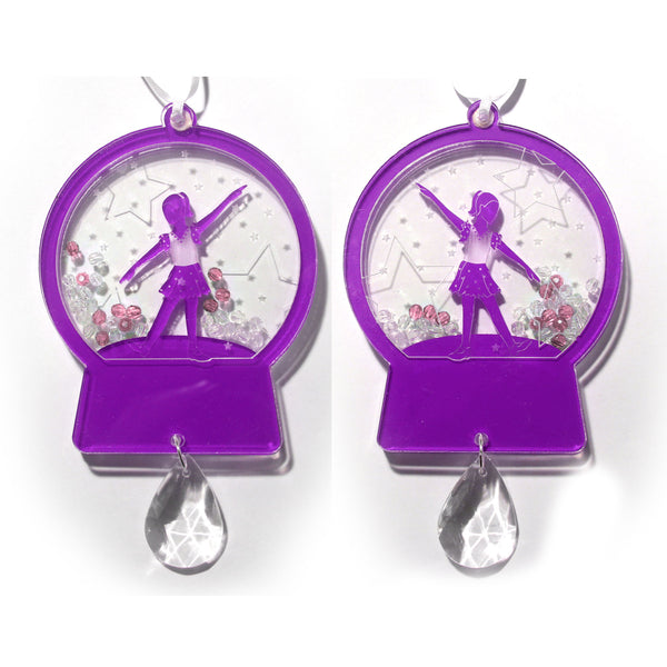 Young Tap Dancer Girl Snow Globe Ornament