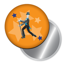 Load image into Gallery viewer, Top Hat & Tails Tap Dancer Button/Magnet/Mirror