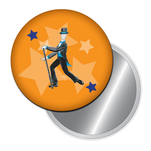 Top Hat & Tails Tap Dancer Button/Magnet/Mirror