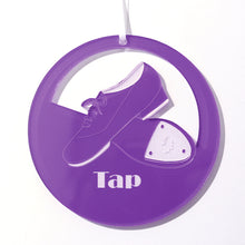 Load image into Gallery viewer, Low-Heeled Tap Shoes Laser-Etched Ornament