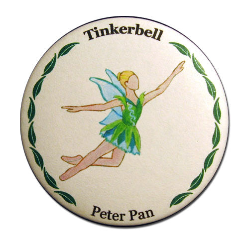 Tinkerbell Button/Magnet/Mirror - Ballet Gift Shop