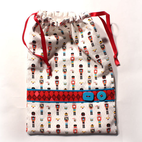 Tiny Nutcrackers Drawstring Tote - Ballet Gift Shop