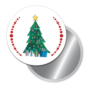 Christmas Tree Button/Magnet/Mirror
