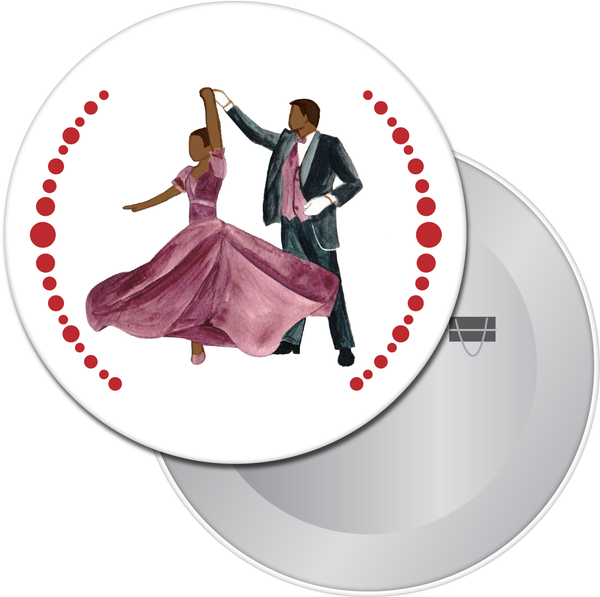Turning Parents at the Party (African-American) Button / Magnet