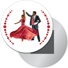 Load image into Gallery viewer, Turning Parents at the Party (African-American) Button/Magnet/Mirror